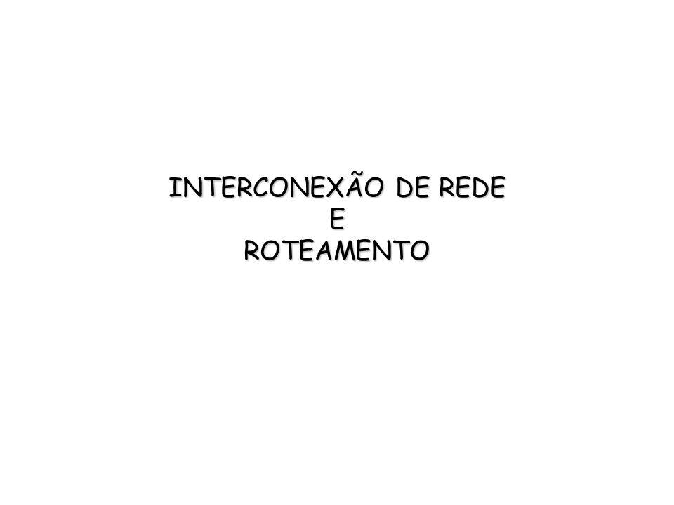 INTERCONEXÃO DE REDE E ROTEAMENTO