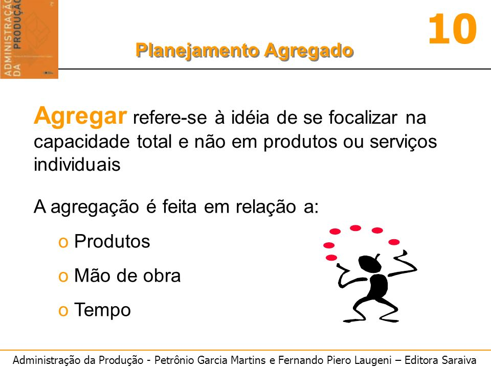 Agregar refere-se à idéia de se focalizar na capacidade total e não em produtos ou serviços individuais