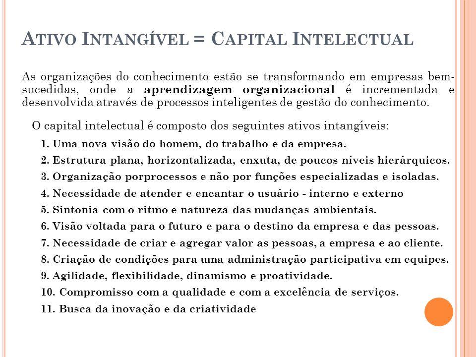 Ativo Intangível = Capital Intelectual