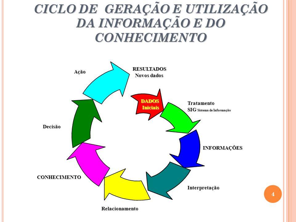 CICLO DE GERAÇÃO E UTILIZAÇÃO DA INFORMAÇÃO E DO CONHECIMENTO