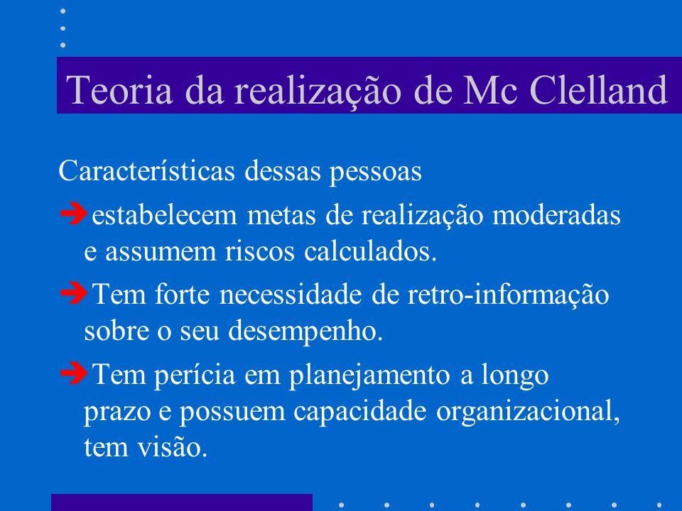 Teoria da realização de Mc Clelland