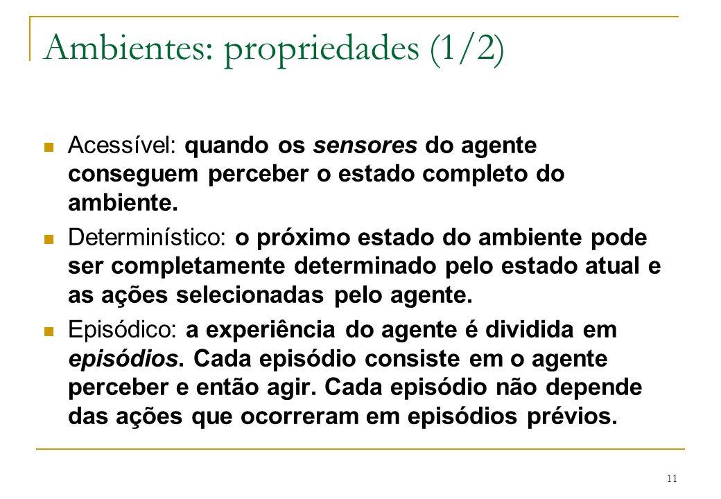 Ambientes: propriedades (1/2)