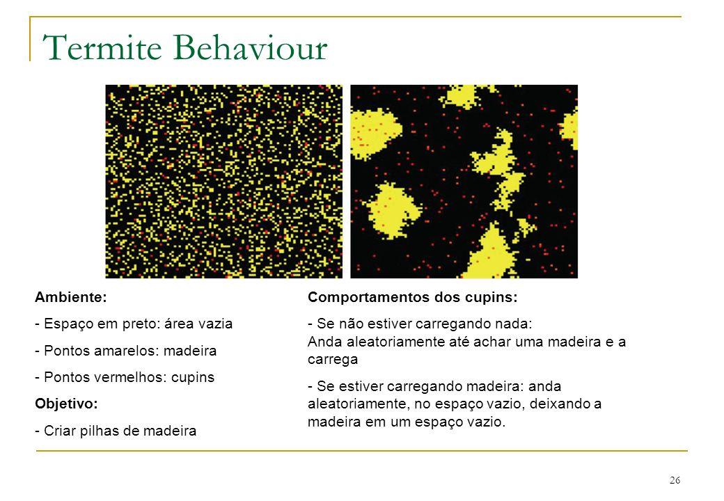 Termite Behaviour Ambiente: Espaço em preto: área vazia