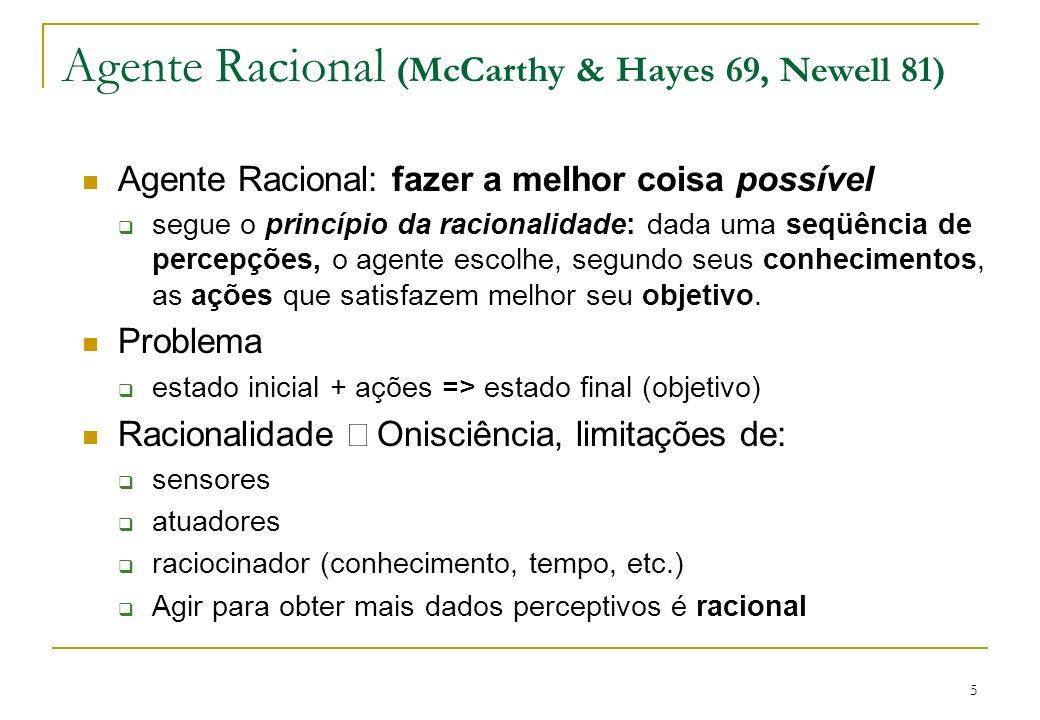 Agente Racional (McCarthy & Hayes 69, Newell 81)