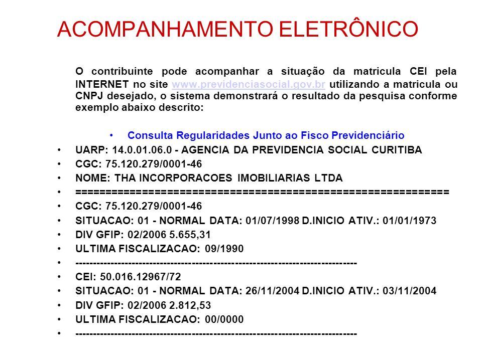 Consulta Regularidades Junto ao Fisco Previdenciário