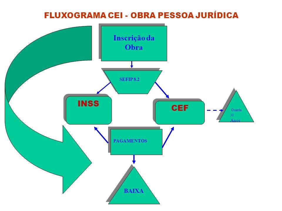 FLUXOGRAMA CEI - OBRA PESSOA JURÍDICA