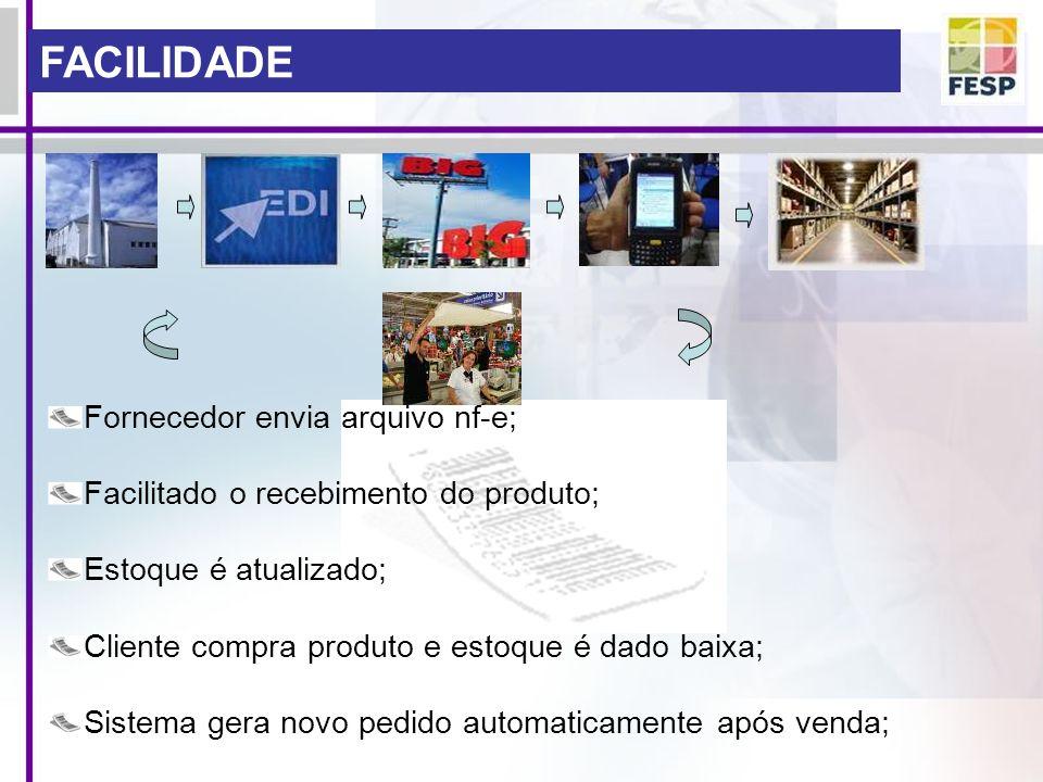 FACILIDADE Fornecedor envia arquivo nf-e;