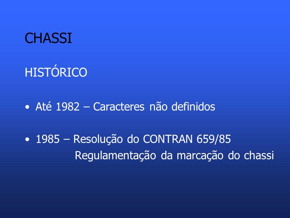 CHASSI HISTÓRICO Até 1982 – Caracteres não definidos