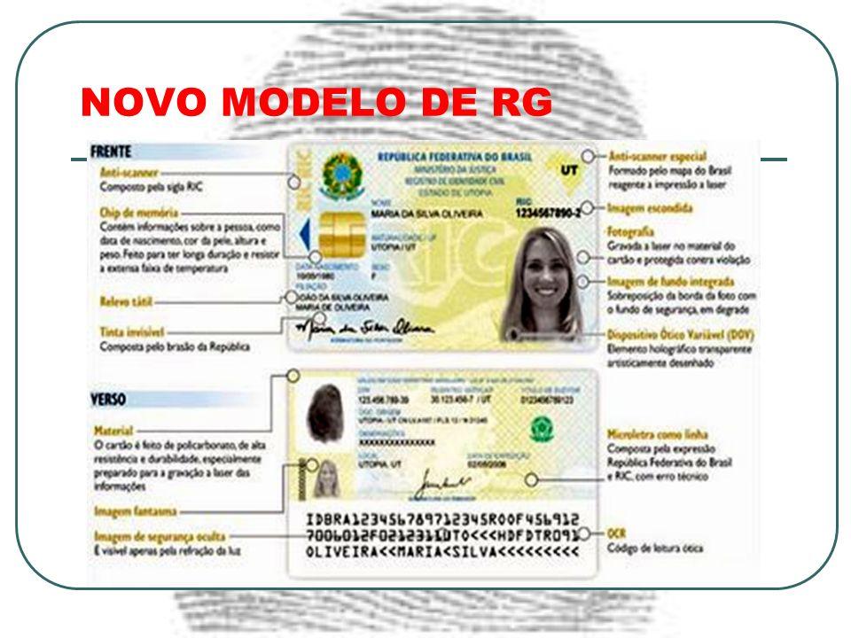 NOVO MODELO DE RG