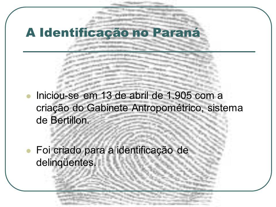 A Identificação no Paraná
