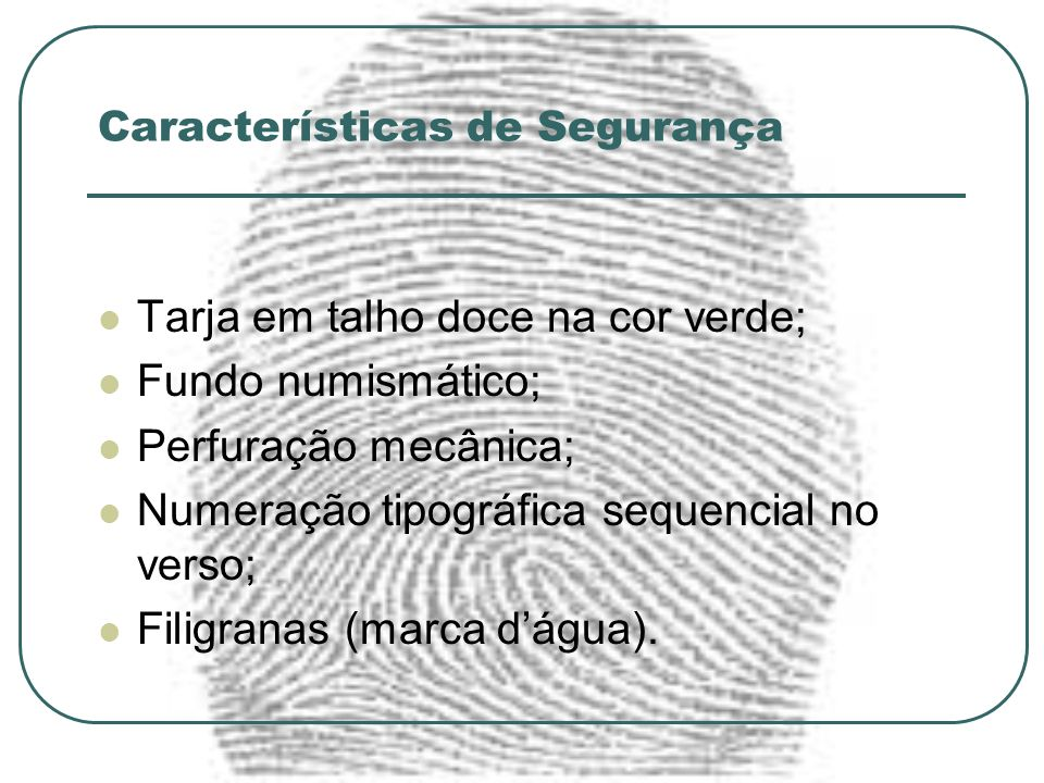 Características de Segurança