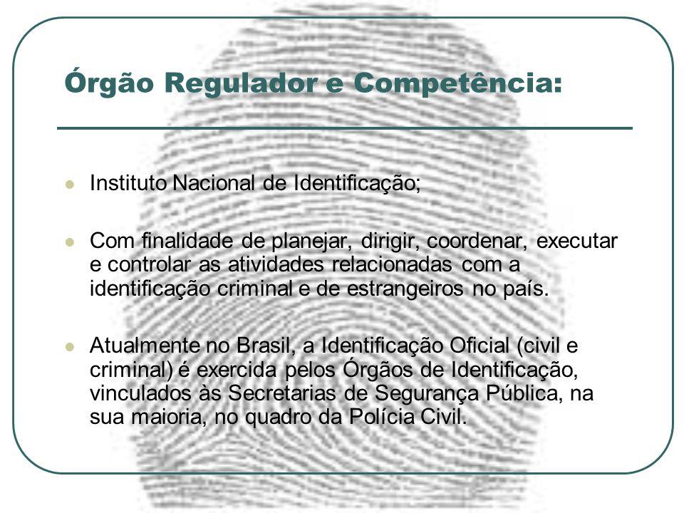 Órgão Regulador e Competência: