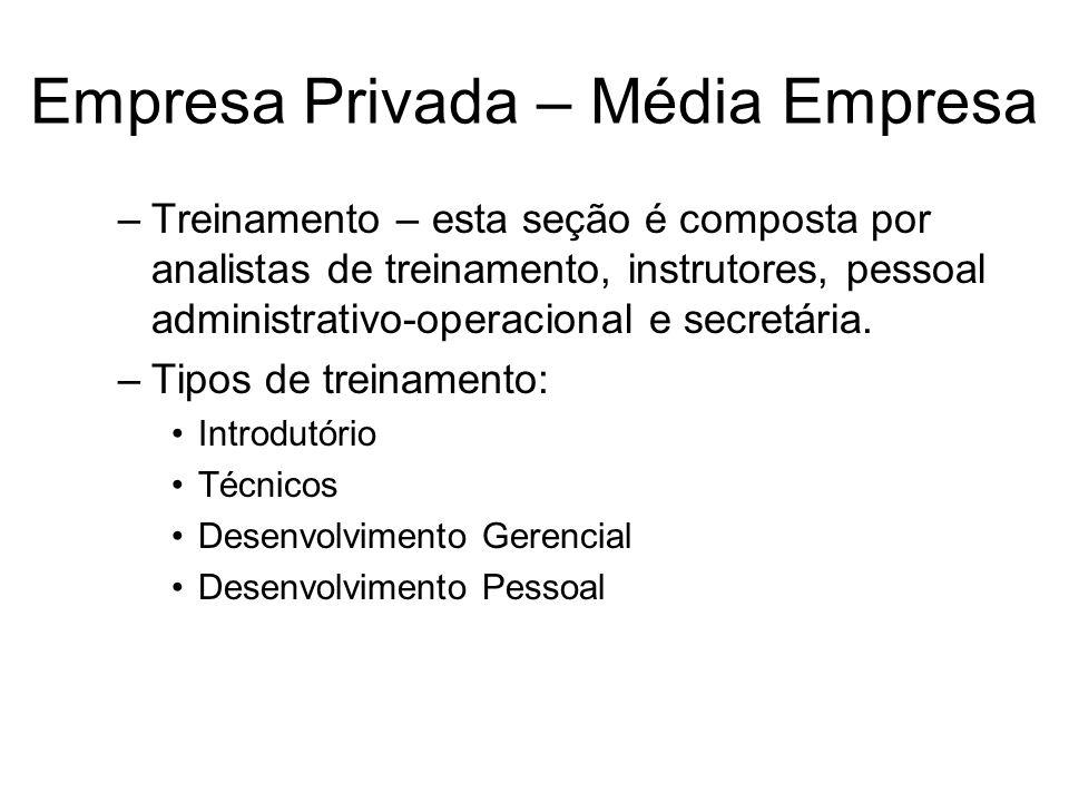 Empresa Privada – Média Empresa