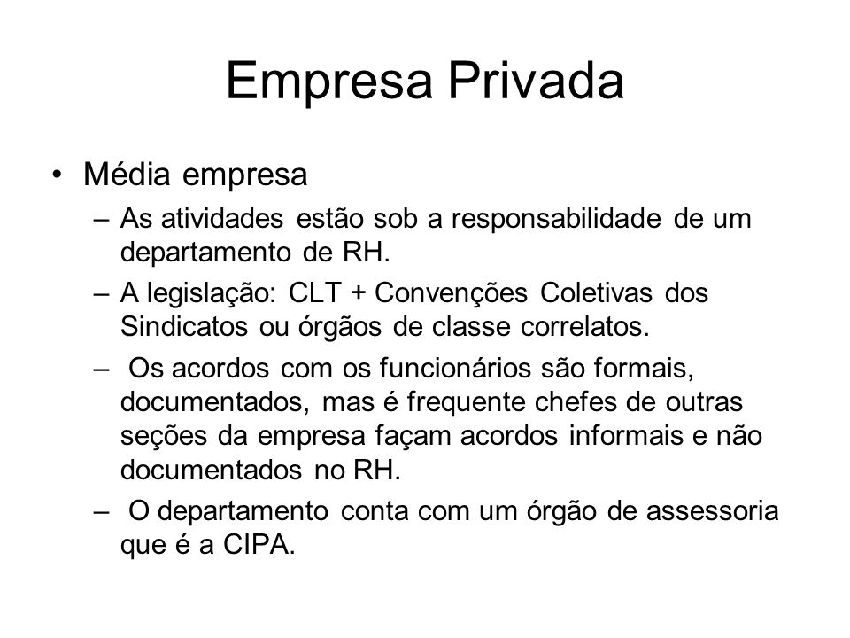 Empresa Privada Média empresa