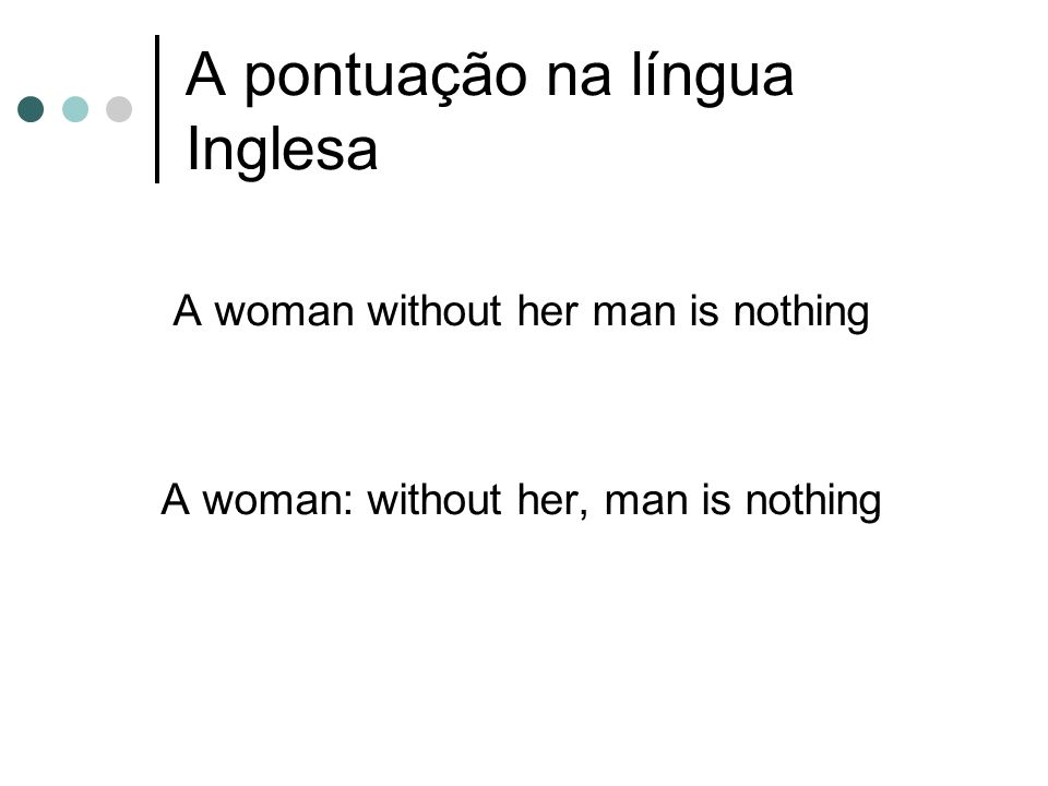 A pontuação na língua Inglesa