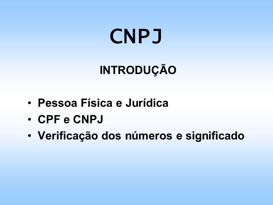 CNPJ Pessoa Física e Jurídica CPF e CNPJ