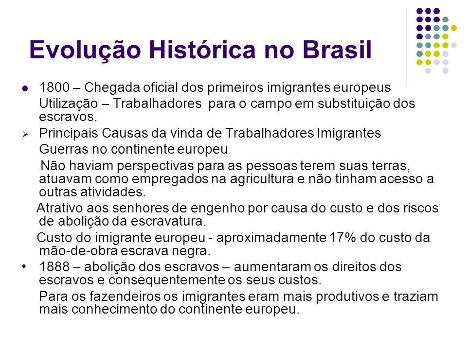 Evolução Histórica no Brasil