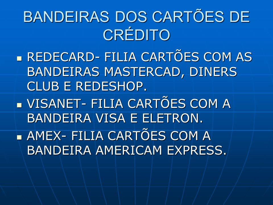 BANDEIRAS DOS CARTÕES DE CRÉDITO