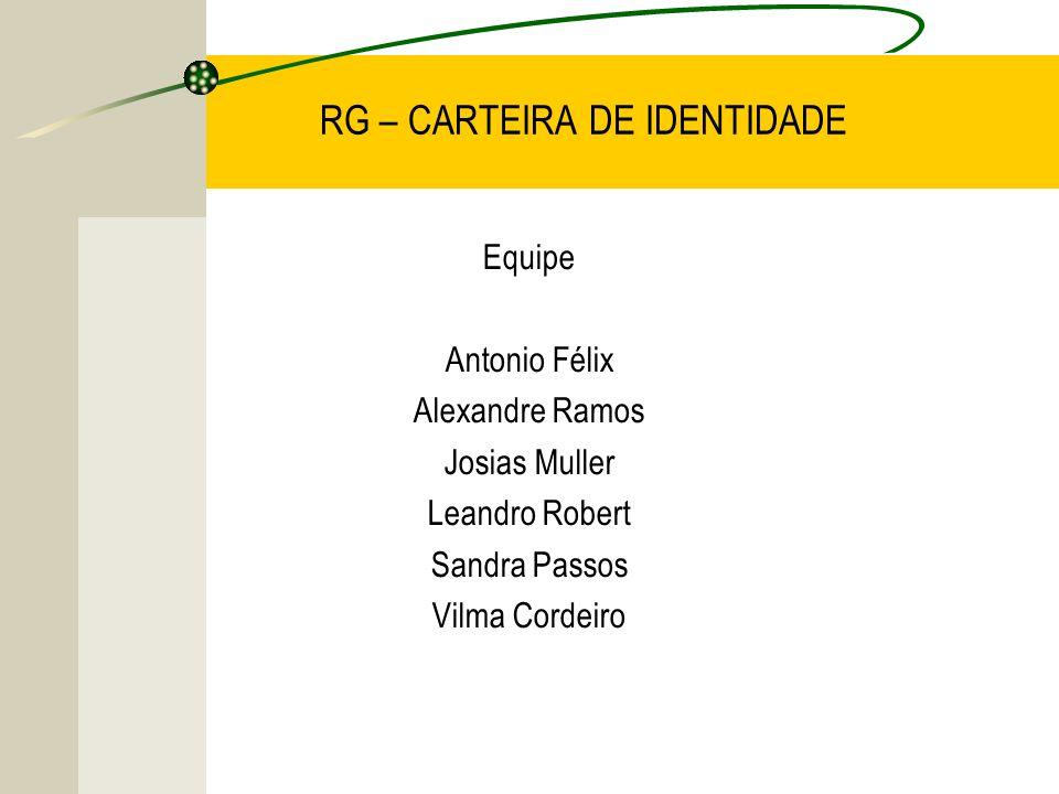 RG – CARTEIRA DE IDENTIDADE