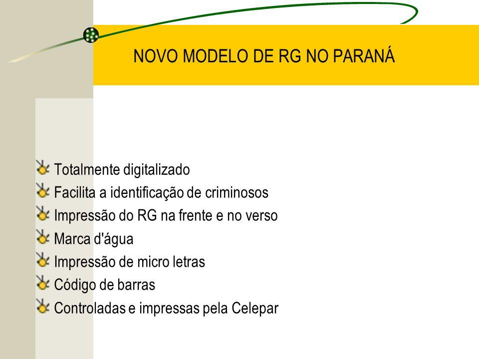 NOVO MODELO DE RG NO PARANÁ