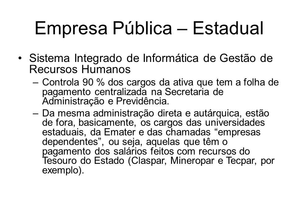 Empresa Pública – Estadual