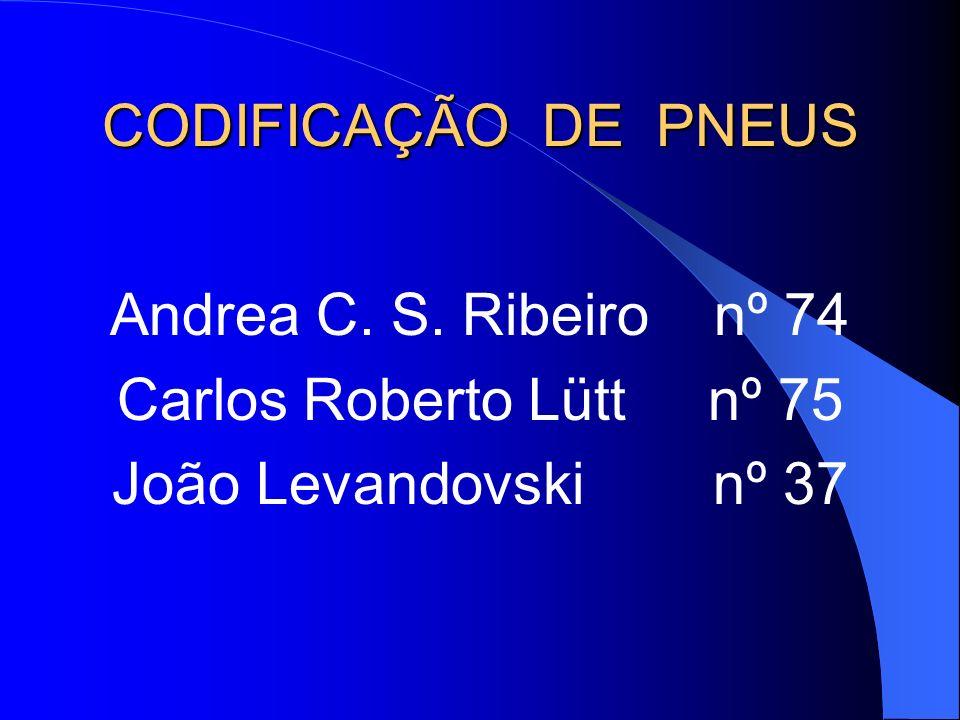 CODIFICAÇÃO DE PNEUS Andrea C. S. Ribeiro nº 74.