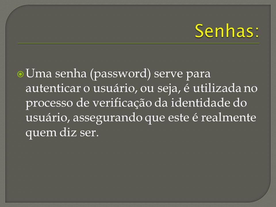 Senhas:
