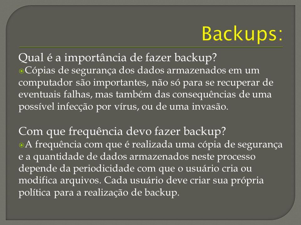 Backups: Qual é a importância de fazer backup