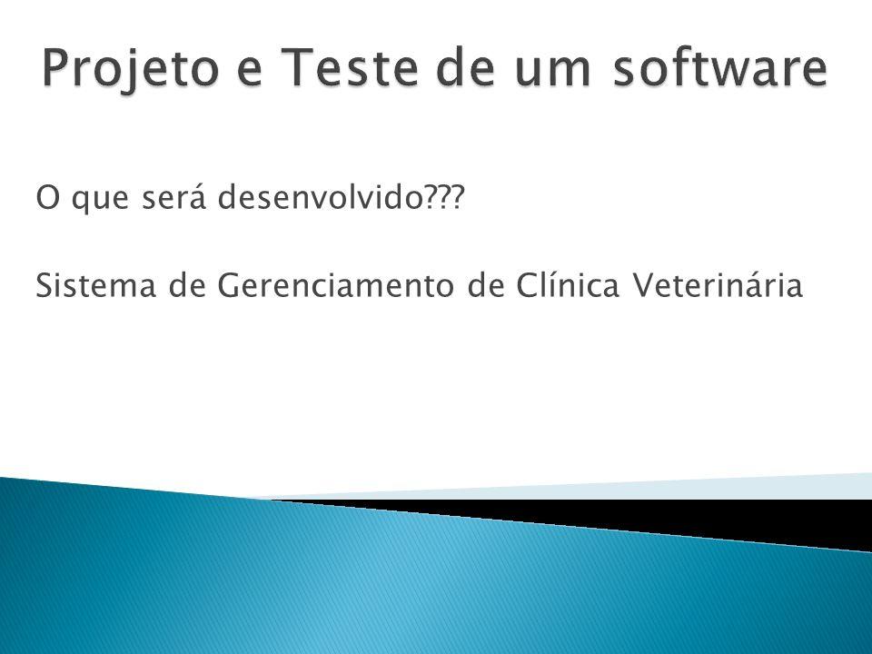 Projeto e Teste de um software