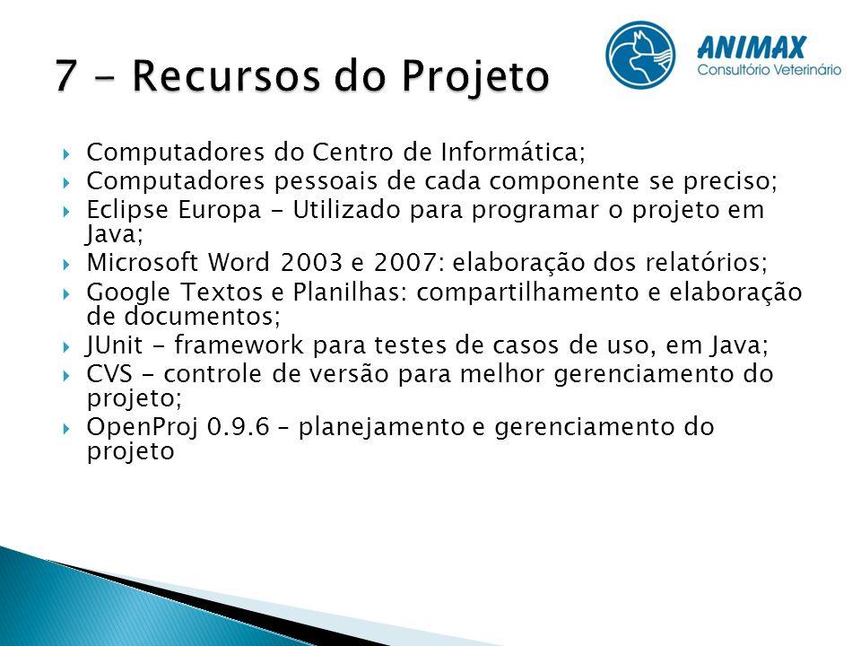 7 - Recursos do Projeto Computadores do Centro de Informática;