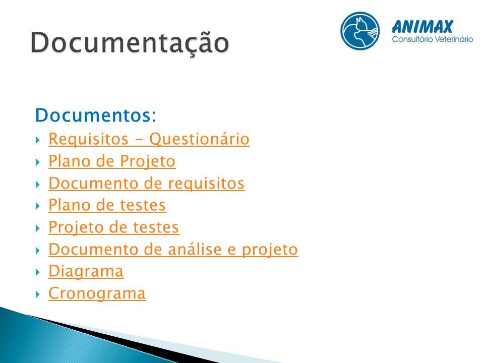 Documentação Documentos: Requisitos - Questionário Plano de Projeto