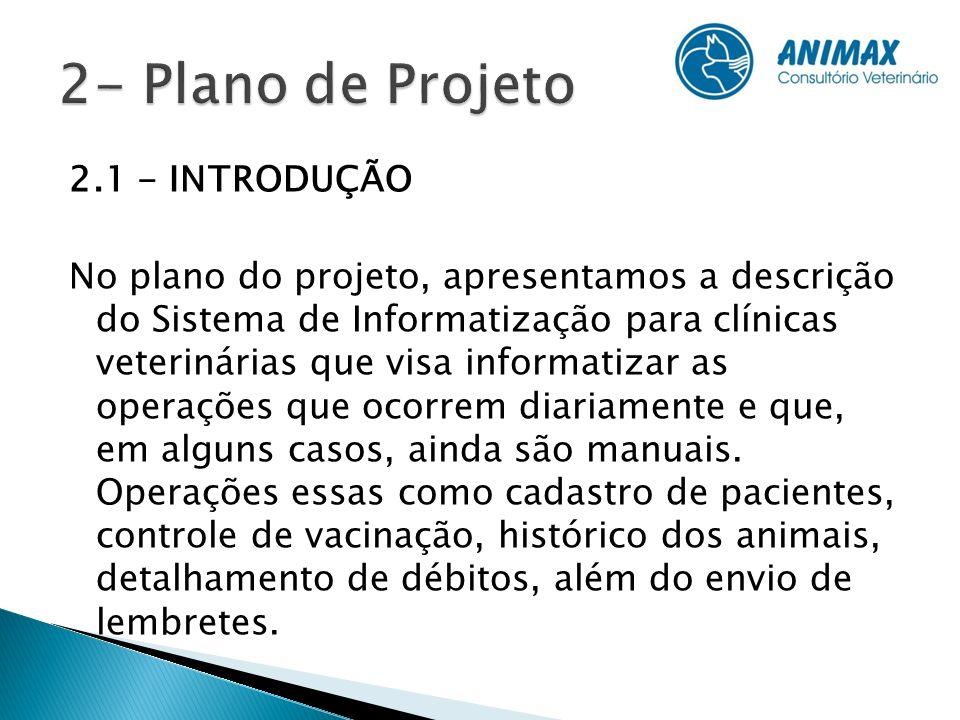 2- Plano de Projeto 2.1 - INTRODUÇÃO