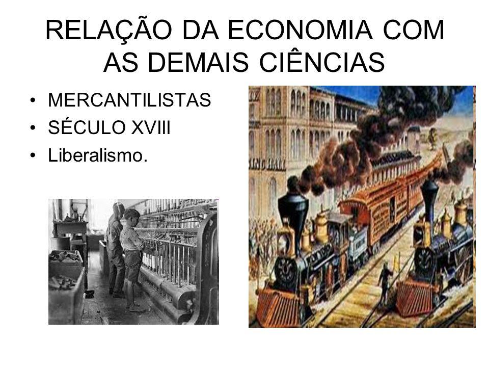 RELAÇÃO DA ECONOMIA COM AS DEMAIS CIÊNCIAS