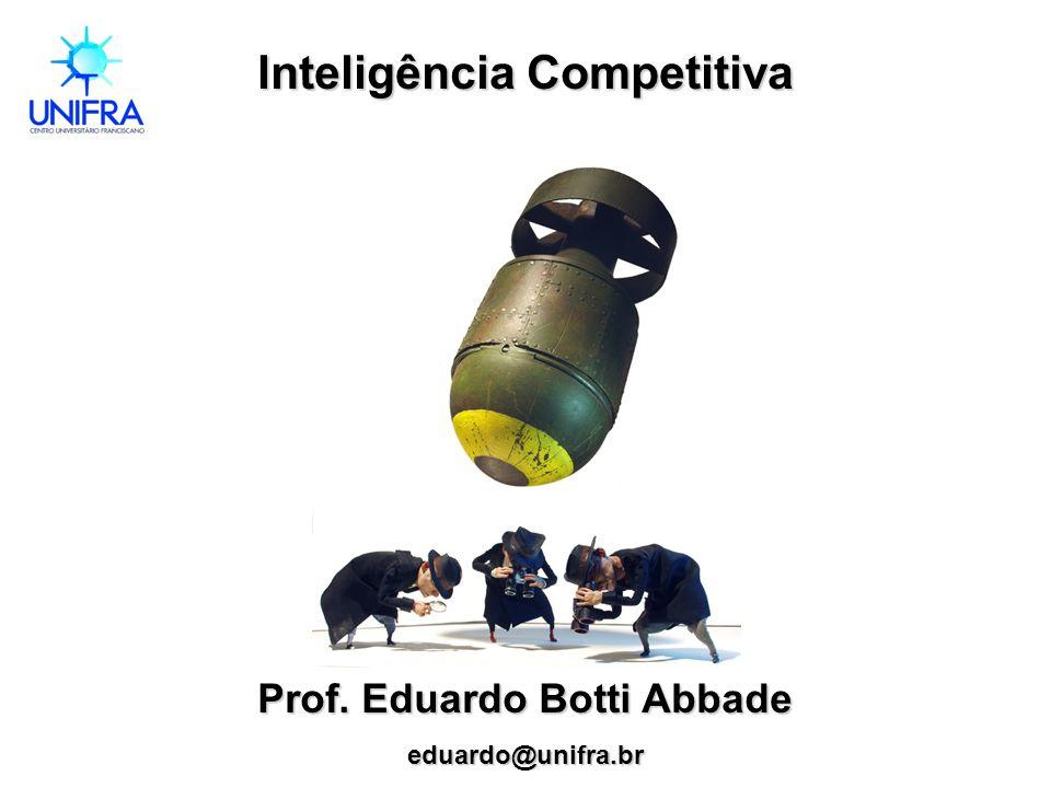 Inteligência Competitiva Prof. Eduardo Botti Abbade