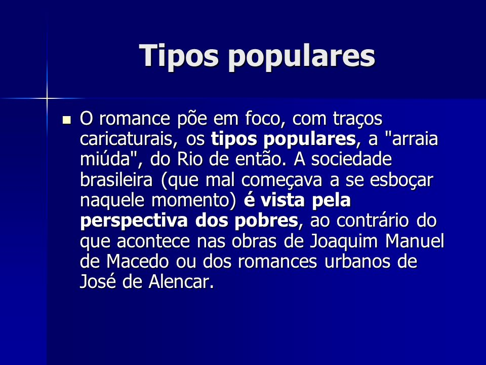 Tipos populares