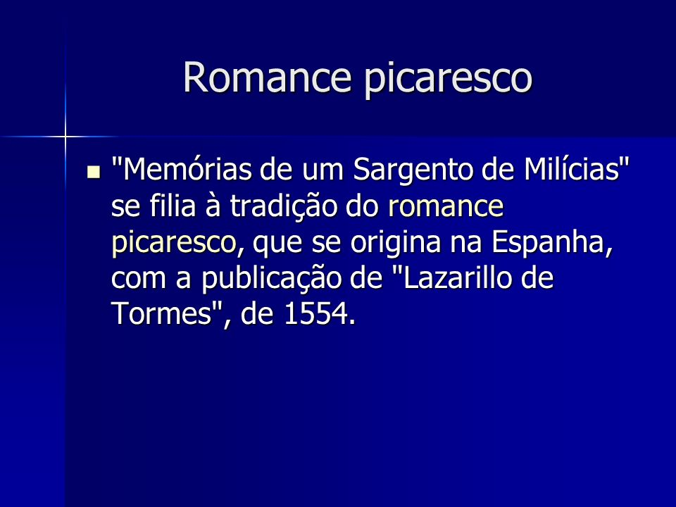 Romance picaresco