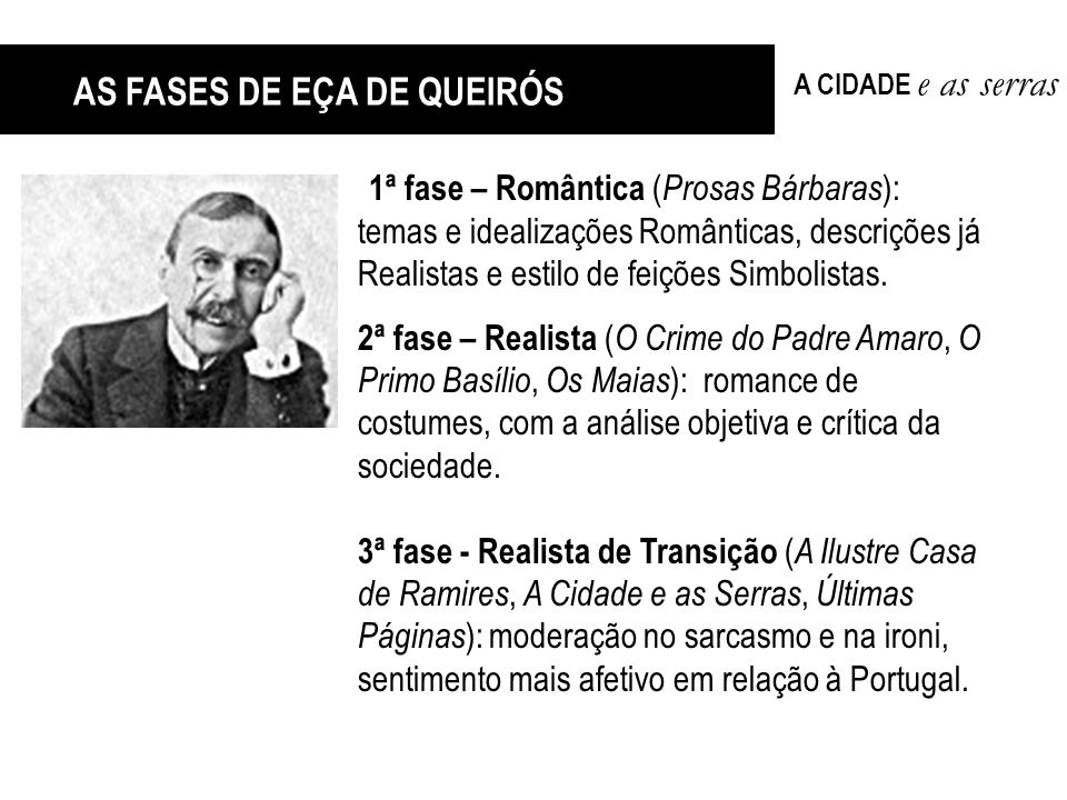 AS FASES DE EÇA DE QUEIRÓS