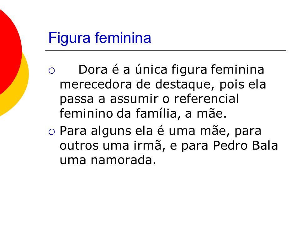 Figura feminina Dora é a única figura feminina merecedora de destaque, pois ela passa a assumir o referencial feminino da família, a mãe.