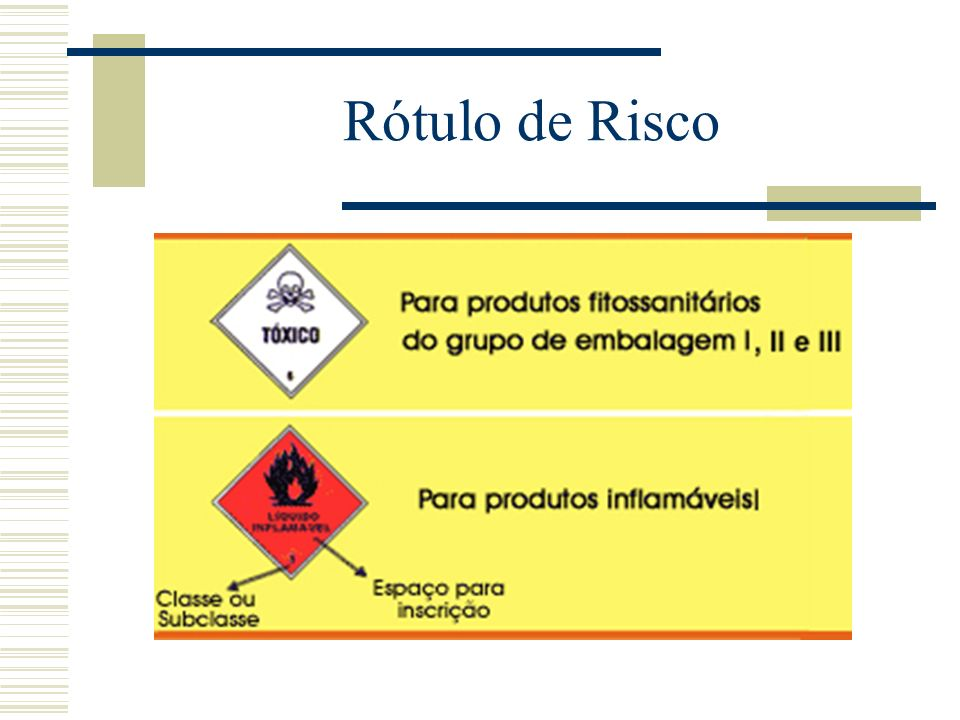 Rótulo de Risco