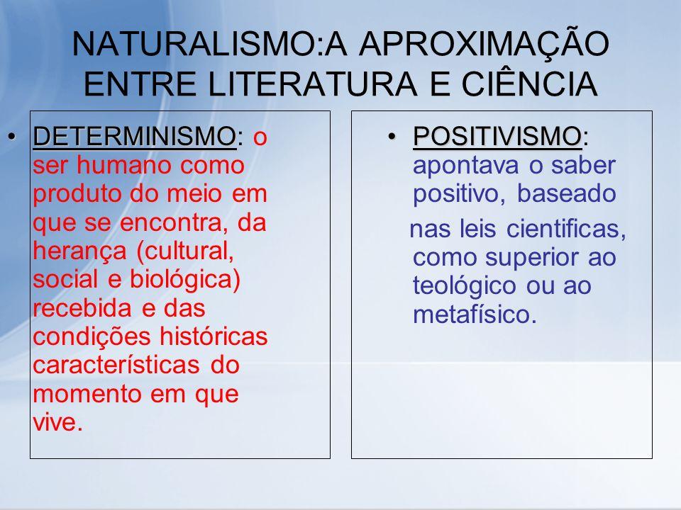 NATURALISMO:A APROXIMAÇÃO ENTRE LITERATURA E CIÊNCIA