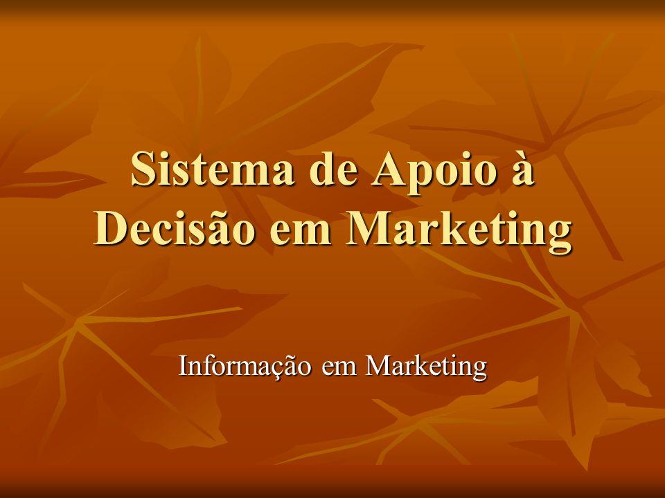 Sistema de Apoio à Decisão em Marketing