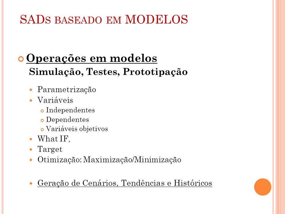 SADs baseado em MODELOS