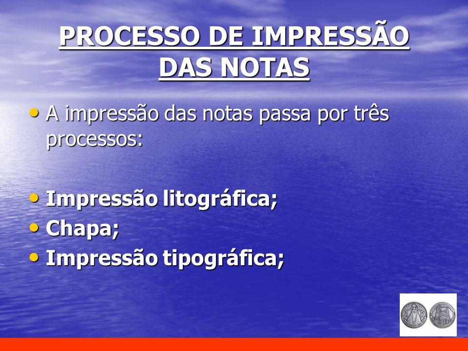 PROCESSO DE IMPRESSÃO DAS NOTAS