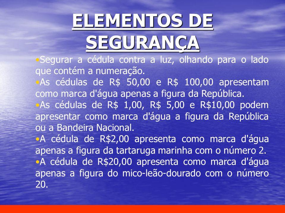 ELEMENTOS DE SEGURANÇA
