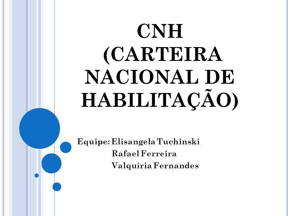 CNH (CARTEIRA NACIONAL DE HABILITAÇÃO)