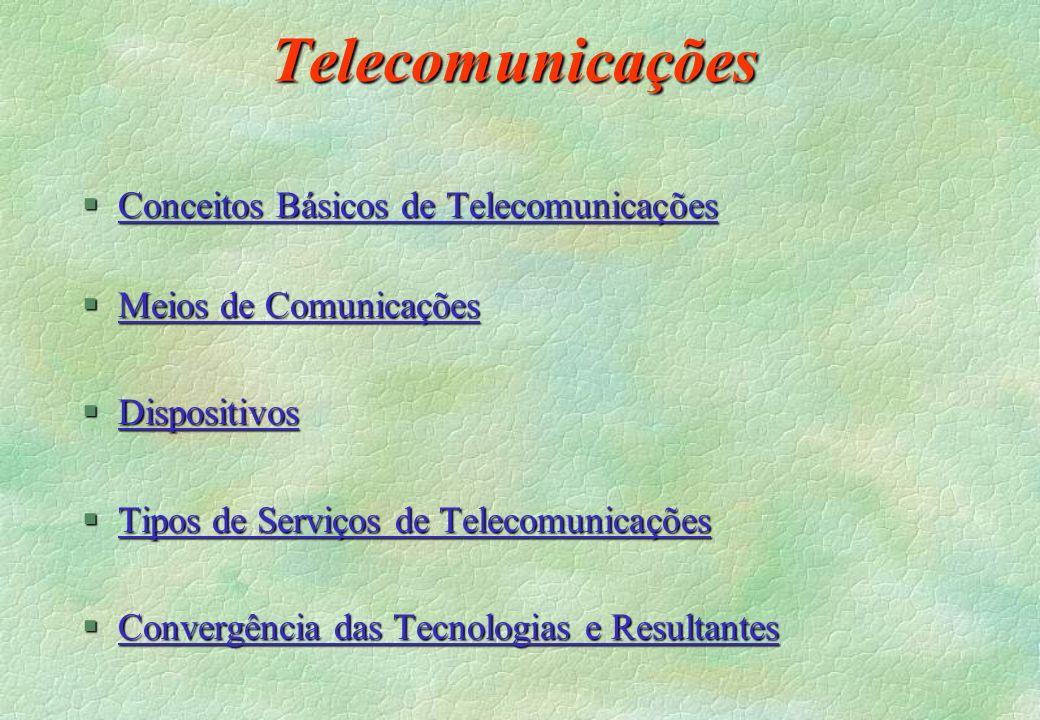 Telecomunicações Conceitos Básicos de Telecomunicações