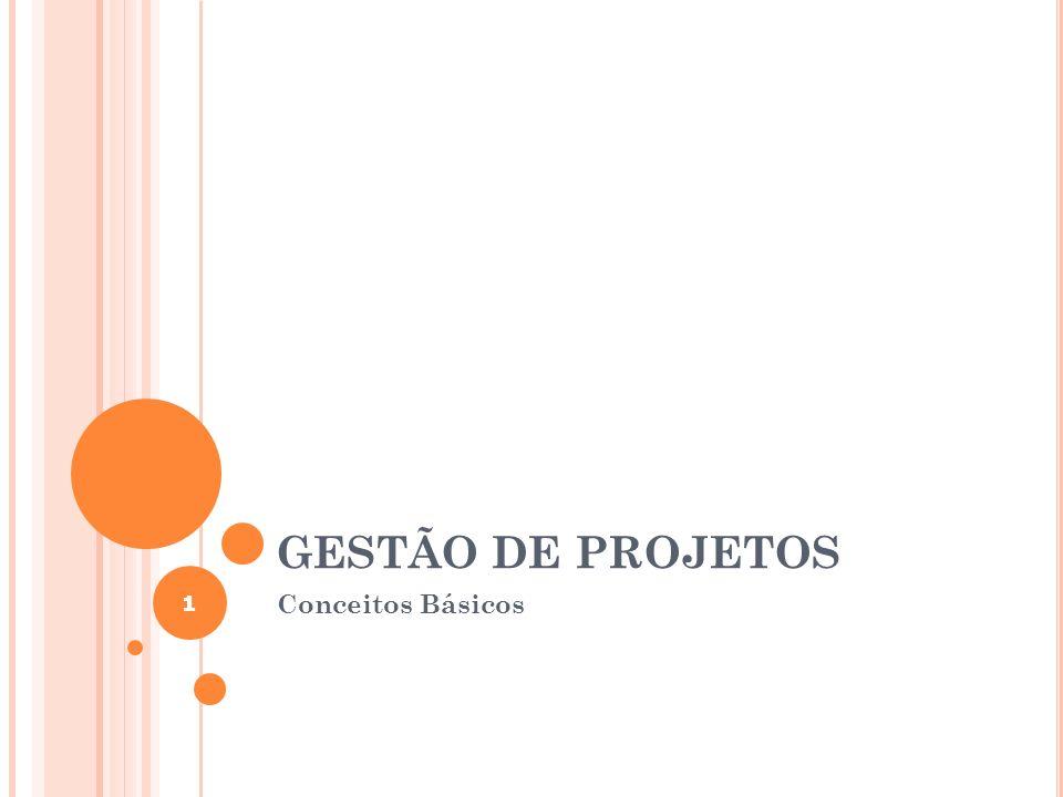 GESTÃO DE PROJETOS 1 Conceitos Básicos