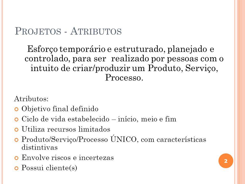 Projetos - Atributos
