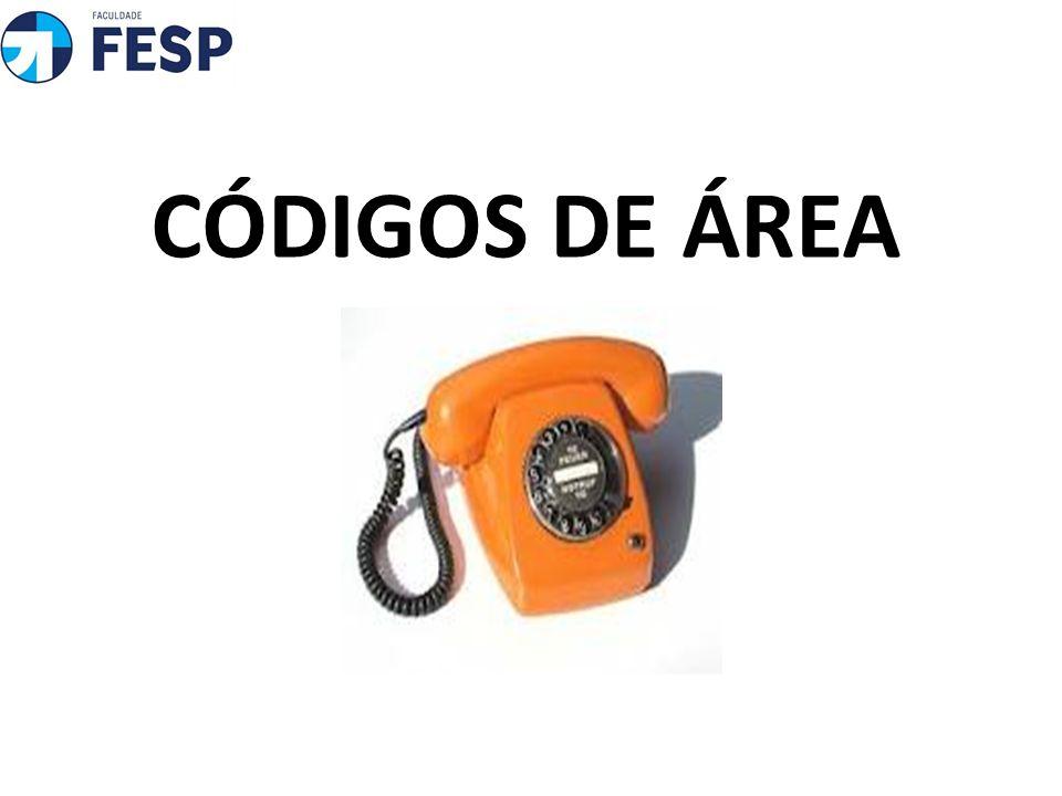 CÓDIGOS DE ÁREA