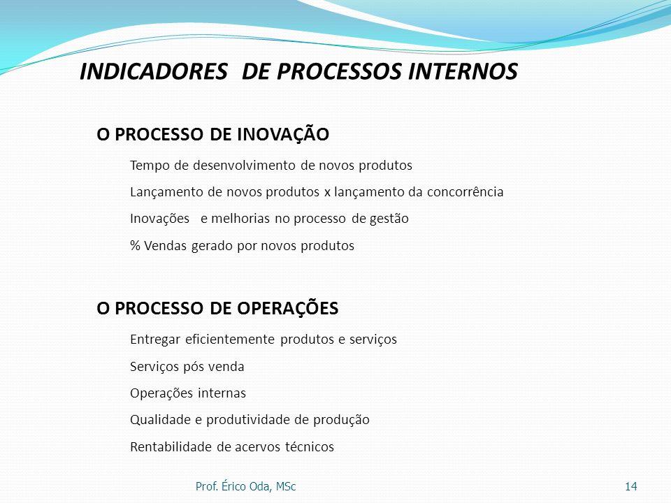 INDICADORES DE PROCESSOS INTERNOS
